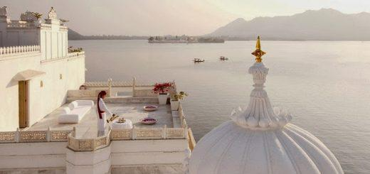 The shimmering Taj Lake Palace is one of the most romantic hotels in the world