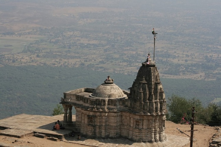 Kalika Mata Temple atop Pavagarh Hill draws a large number of devotees