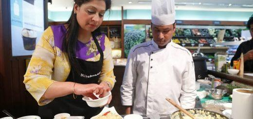 Food connoisseur Kanchan Kapoor and Chef Debashish Dutta