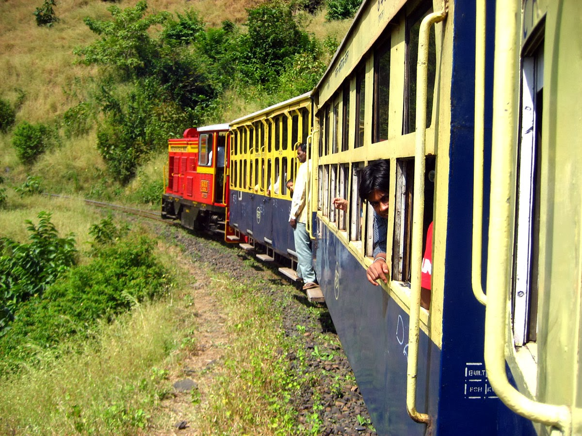 """The Narrow Gauge """"Toy Train"""" is the best means to reach Matheran Hill Station"""