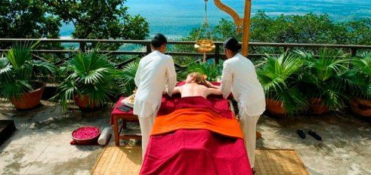 he spa and ayurveda therapies at Ananda nestled in the Himalayas is as phisically de-stressing as they are emotionally and spiritually uplifting