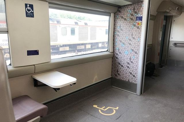 Vande Bharat Express: There is wide space at the driver cabin coach to park the wheelchairs for physically challenged passengers.