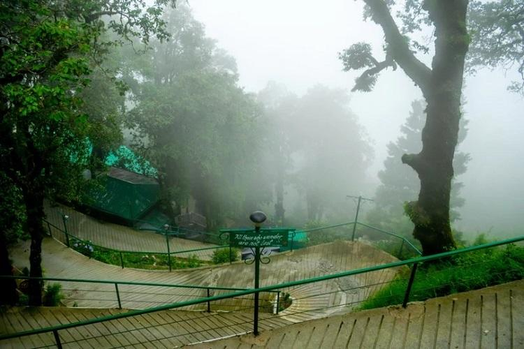 Mussoorie usually sees heavy rainfall during the monsoon season.