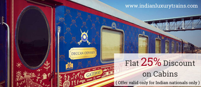 Flat 25% Discount on Cabins at Deccan Odyssey